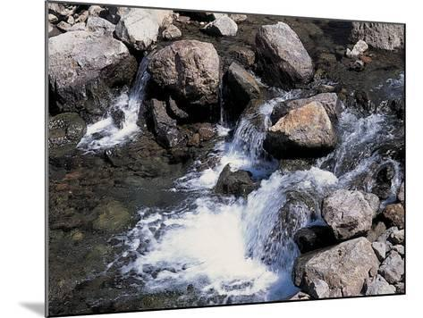 Rushing and Rapid River Stream over Rocks--Mounted Photographic Print