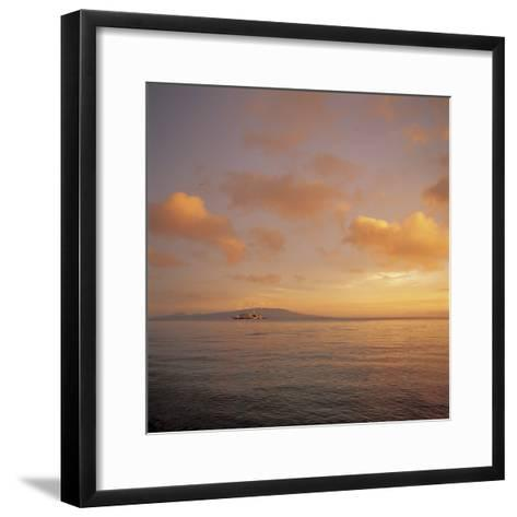 Beautiful and Peaceful Sunset over a Sea--Framed Art Print