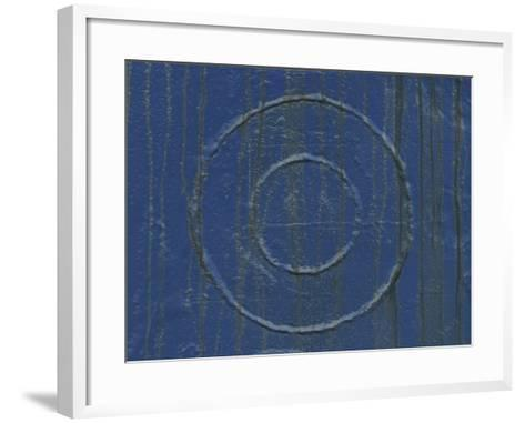 Welded Circles on a Streaked and Painted Surface--Framed Art Print