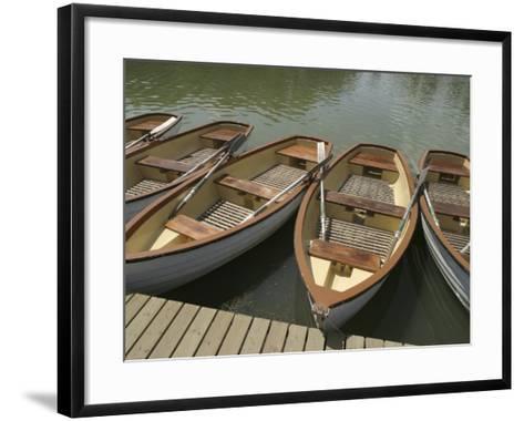 Row of Docked Rowboats--Framed Art Print
