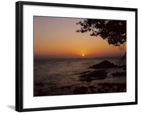 Peaceful and Beautiful Sunset over a Sea--Framed Art Print