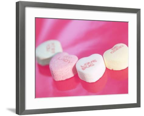 Heart Shaped Candies with Love Messages--Framed Art Print