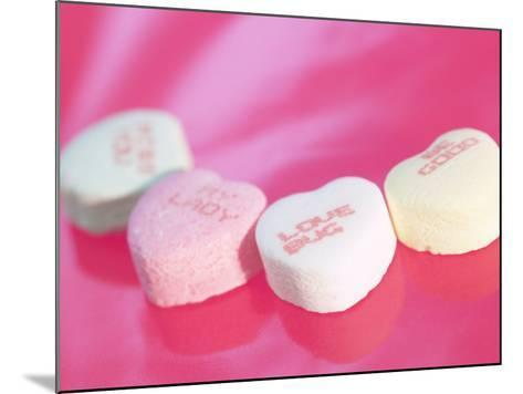 Heart Shaped Candies with Love Messages--Mounted Photographic Print
