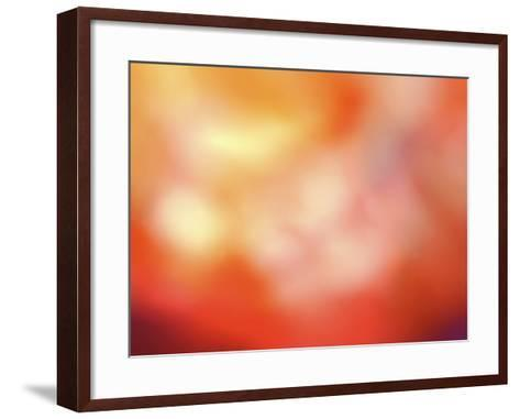 Blurred View of Abstract Red and Yellow Background--Framed Art Print