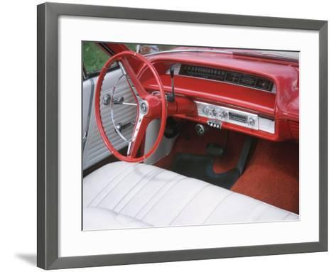 Vehicle with Antique Red Car Interior--Framed Art Print
