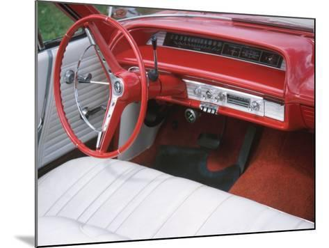 Vehicle with Antique Red Car Interior--Mounted Photographic Print