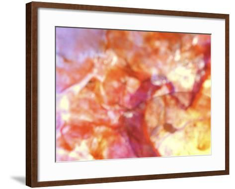 Close-Up of Abstract Purple, Red and Orange Rock Background--Framed Art Print