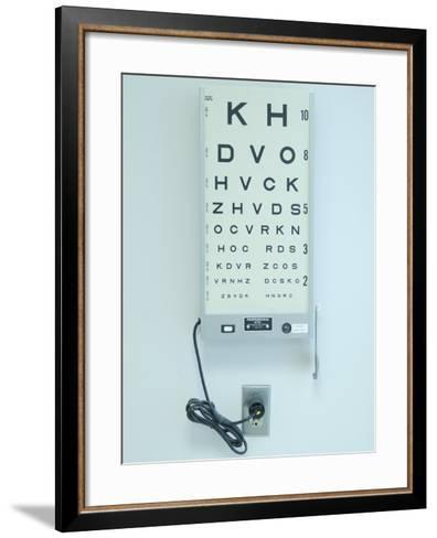 Optometrist's Eyesight Test Chart--Framed Art Print