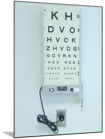 Optometrist's Eyesight Test Chart--Mounted Photographic Print