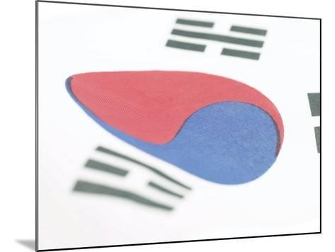 Close-Up of Blue and Red Yin-Yang Symbol on South Korean Flag--Mounted Photographic Print