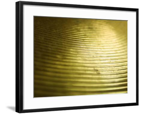 Close-Up of Glistening Metal Disk--Framed Art Print