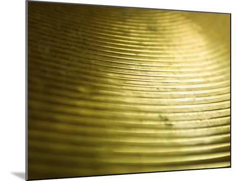 Close-Up of Glistening Metal Disk--Mounted Photographic Print