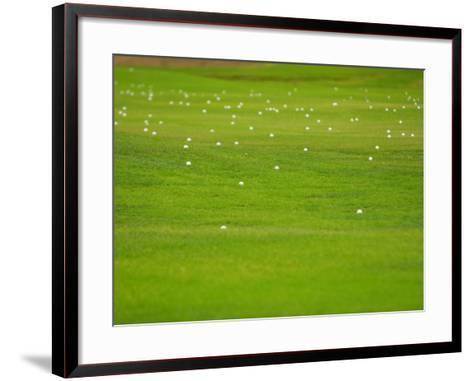 Bright and Vibrant Green Grassy Field--Framed Art Print