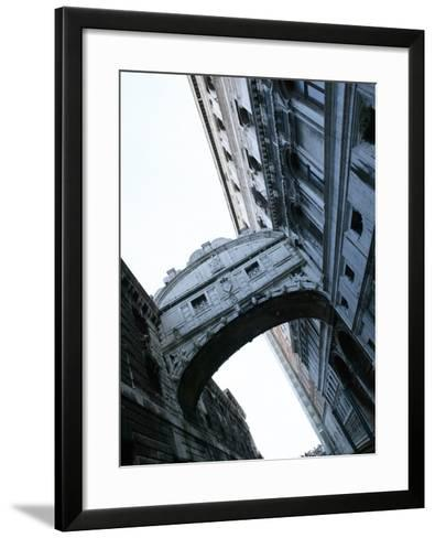 Bridge of Sighs Stretching Between Buildings in Venice, Italy--Framed Art Print