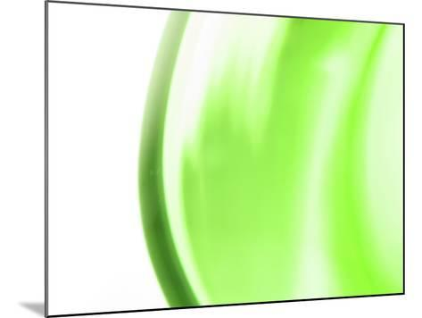 Abstract Motion Blurred Green Background--Mounted Photographic Print