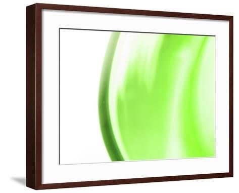 Abstract Motion Blurred Green Background--Framed Art Print