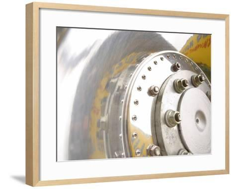 Close-Up of Shiny Chrome Wheel--Framed Art Print