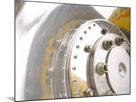 Close-Up of Shiny Chrome Wheel--Mounted Photographic Print