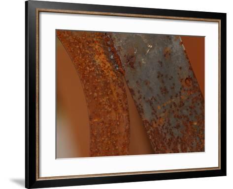 Close-Up of Rusty Metal Design--Framed Art Print