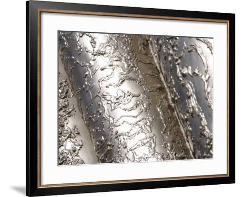 Texture of Industrial Steel Pipes--Framed Art Print