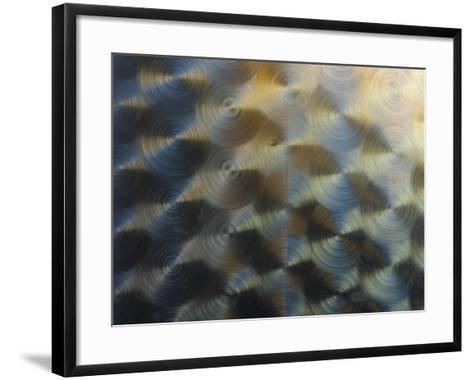 Close-Up of Shiny Metal Creating a Circular Pattern--Framed Art Print