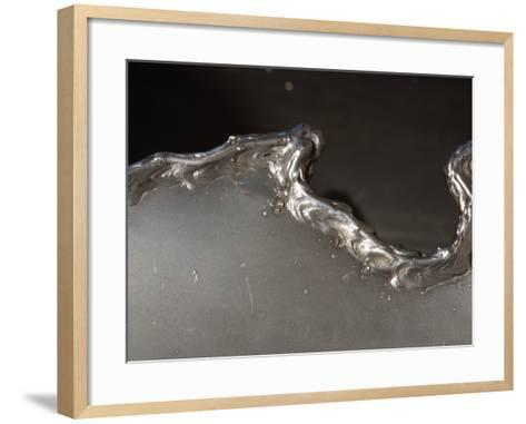 Close-Up of Jagged Edge of Industrial Metal--Framed Art Print