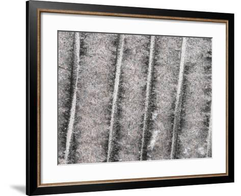 Cement Wall Textured Background with Etched Vertical Lines--Framed Art Print