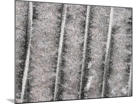 Cement Wall Textured Background with Etched Vertical Lines--Mounted Photographic Print