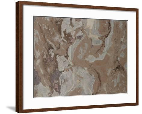 Close-Up of a Mottled Marble Surface--Framed Art Print