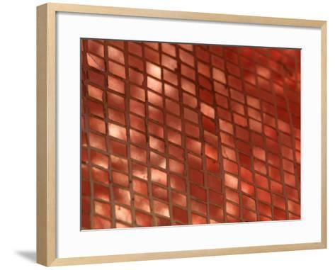 Metallic Copper Tiles Set into Ceramic--Framed Art Print