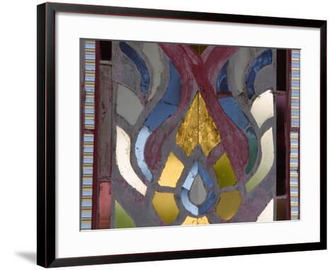 Close-Up of a Stained Glass Artwork, Thailand--Framed Art Print