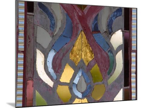 Close-Up of a Stained Glass Artwork, Thailand--Mounted Photographic Print