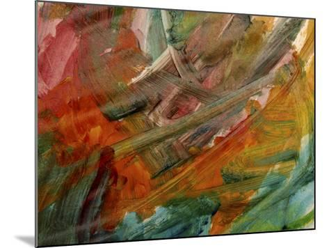 Brush Strokes on Abstractly Painted Background--Mounted Photographic Print