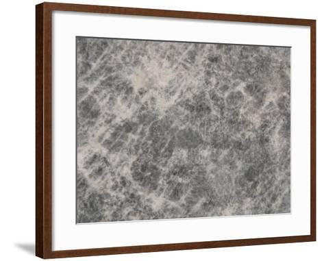 Close-Up of a Grey Marble Surface--Framed Art Print