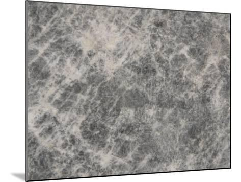 Close-Up of a Grey Marble Surface--Mounted Photographic Print