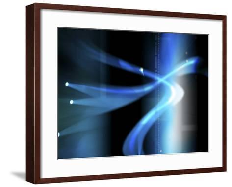 Code Through Abstract Computer Graphic--Framed Art Print