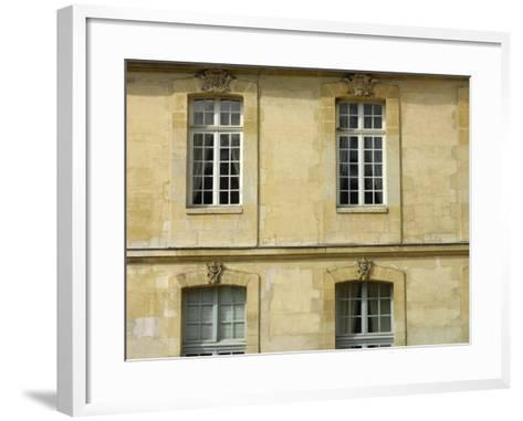 Exterior of Historical Building and Windows--Framed Art Print