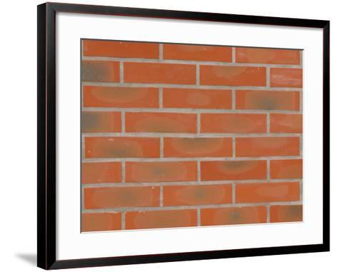 Texture and Pattern of Brick Wall with Oval Spots--Framed Art Print