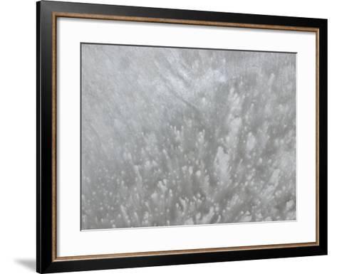 Explosive Splatter Pattern in Gray--Framed Art Print