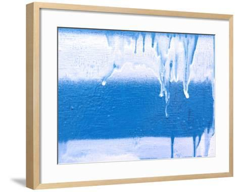 Icicles on Wintered Glass--Framed Art Print