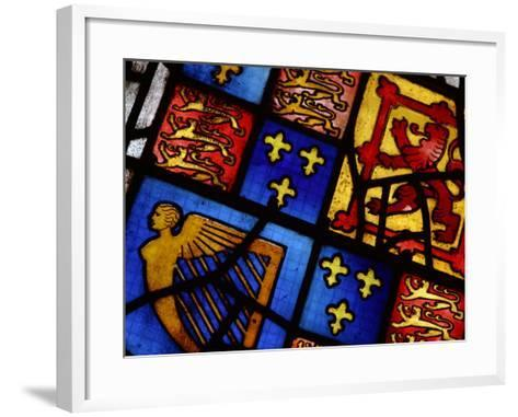Ornately and Elaborately Decorative Stained Glass Windows of Cathedral--Framed Art Print