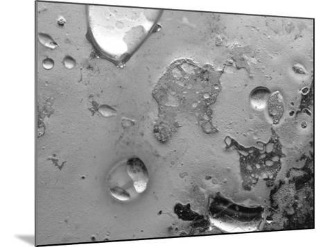 Droplets of Water on Gray Mottled Steel Surface--Mounted Photographic Print