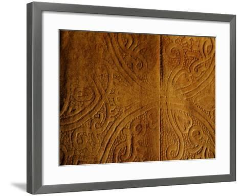 Leather Pattern with Decorative Etching--Framed Art Print