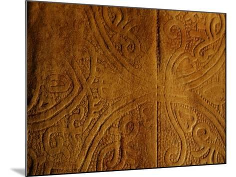 Leather Pattern with Decorative Etching--Mounted Photographic Print