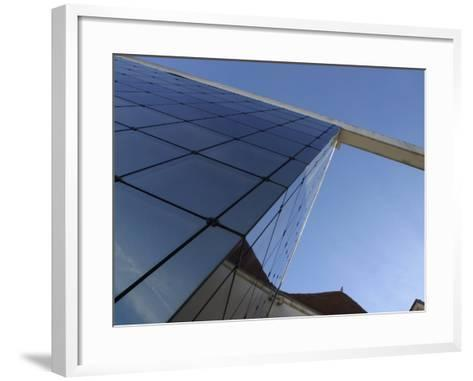 View of Contemporary Glass High Rise Building in France--Framed Art Print