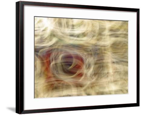 Motion Blur of Wispy Pattern in Earthtones--Framed Art Print