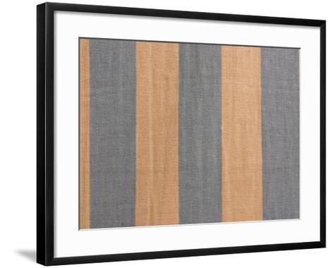 Multicolored Stripes and Lines of Fabric--Framed Art Print