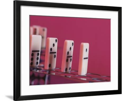 Studio Shot of a Game of Dominos--Framed Art Print
