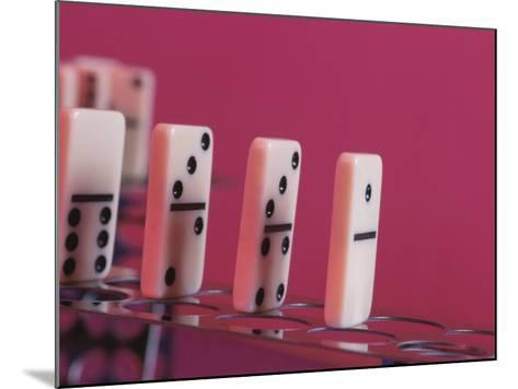 Studio Shot of a Game of Dominos--Mounted Photographic Print