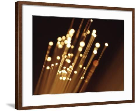Ends of Fiber Optic Cables with Bright Lights--Framed Art Print